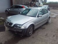 2001 BMW 320i E46 Saloon M54B22 BREAKING FOR PARTS SPARES Titan Silver