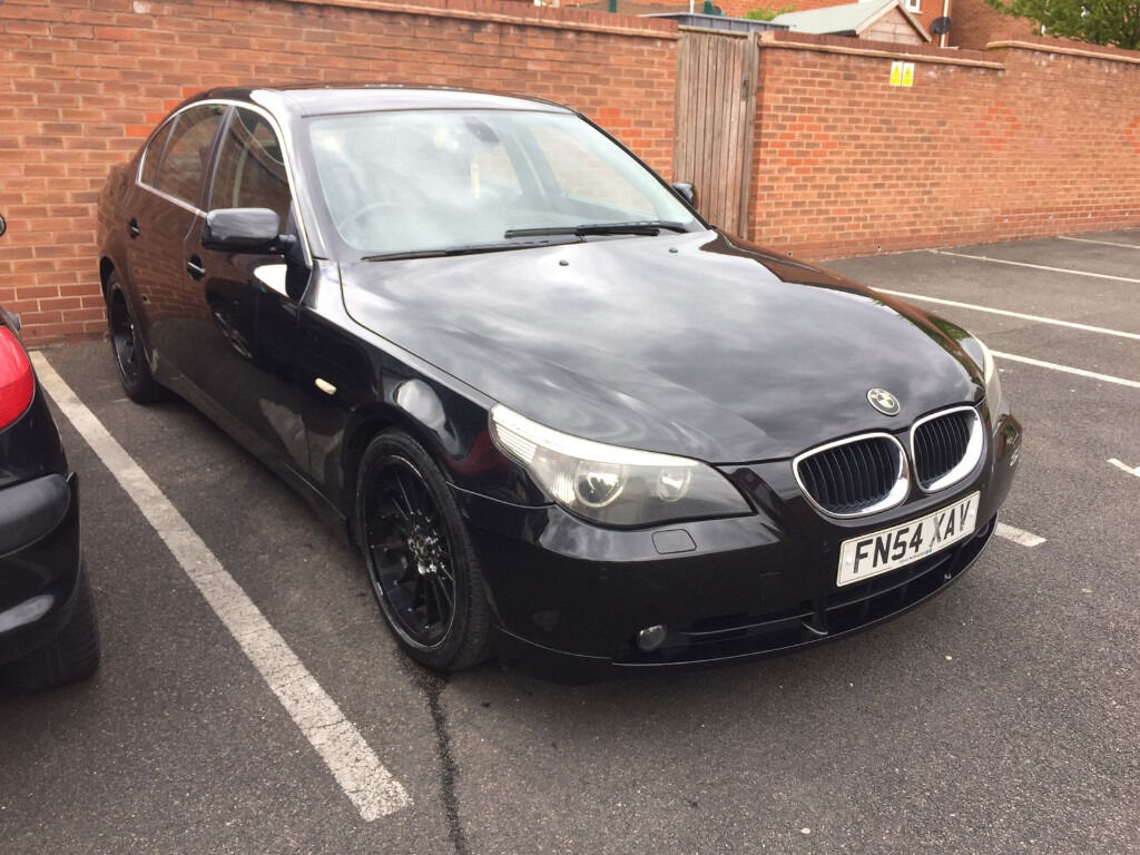 bmw e60 bmw 525 diesel breaking whole car 2004/9 black