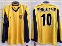 -NEW WITH TAGS- ARSENAL BERGKAMP 10 OFFICIAL NIKE 99/01 UEFA CUP AWAY FOOTBALL SHIRT JERSEY SIZE XL