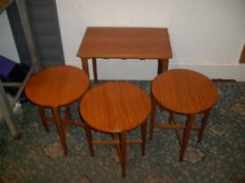 Table with 3 Small Drop Leaf Tables ID 121/1/18
