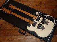 Shergold Custom Double 6/12 guitar white