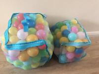 Two full bags of ball pit balls