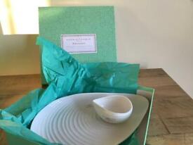 Sophie Conran Portmeirion White Shell Shape Platter & Bowl