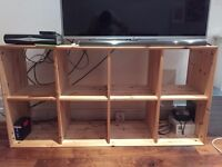 Wooden TV stand and shelving