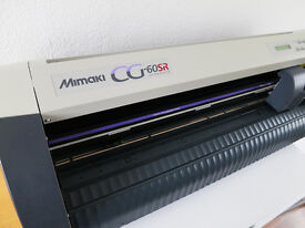 MIMAKI CG-60SR CUTTING PLOTTER with VINYLS and software