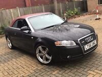 2006 AUDI A4 CABRIOLET 1.8 T CONVERTIBLE PETROL MANUAL NEWER SHAPE STARTS AND DRIVES N A3 A6 320 CLK