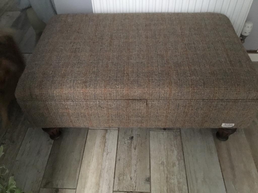 Harris tweed footstool ottoman