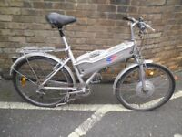 VINTAGE POWABYKE ELECTRIC BYCYCLE SOLD AS SPARES OR REPAIRS..IDEAL EASY PROJECT...BARN FIND ITEM