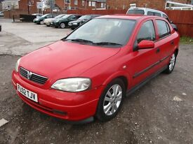 2002 02 VAUXHALL ASTRA 1.6 16v SXI 5 DOOR HATCHBACK GOOD MOT LOW 102K ALLOYS VERY RELIABLE PX SWAPS