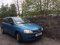 Blue Vauxhall Corsa £550 ono. Reliable