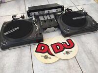 Numark T-1550, DM950 Mixer & Gemini X2 Amp & Speakers, Great condition, great full setup for DJ.