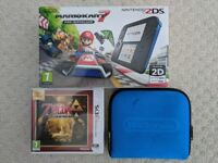 Nintendo 2DS Mario Kart 7 Console like new. Barely ever used. Bargain Christmas Present