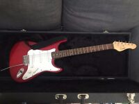 Encore electric guitar + hard case in great quality