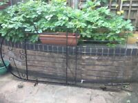 """Metal Gate. 180cms X 82cms (5'10"""" X 32"""") Chelsea Style"""