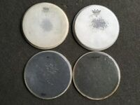 "Drum Heads - 10"" Tom Heads x 4 Various"