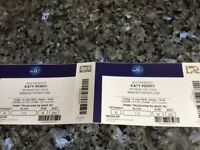 2 x Katy Perry tickets . Friday 15th June at the O2 , good seats with clear view of stage.