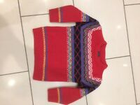 Boys aged 3-4 years red jumper