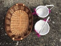Wicker Baskets- could be used for Wedding, Decor, Home, Theatre, Hampers, Flowers