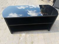 TV stand black oak veneer Alphason