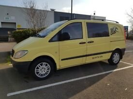 Mercedes vito converted camper includes Rock and roll bed 2 captain swivel chairs Drive away Awning