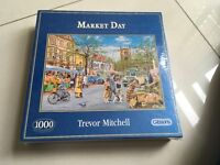 Brand New Trevor Mitchell -1000 Piece Jigsaw Puzzle - Market Day