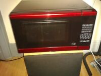 Morphy Richards red and black touch pad microwave perfect condition £15