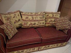 3 seat and 2 seat sofa