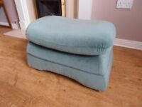 Rectangular Green Footstool/Pouffe in Dralon Type Fabric