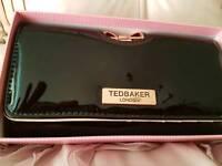 Black patent designer purse