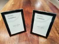 2 x decorative photo frames