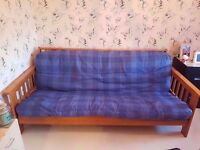 Wooden Double Sofa Bed Futon Style With Mattress ~ £80 ono