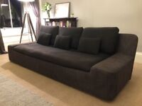 Dark Grey 4-seater Habitat Sofa, Good Condition