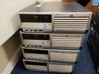 Four HP Desktop PC - Working with RAM & Hard Drive. (Bulk/Job Lot)