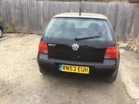 VW Golf Match 2004 1.6 petrol