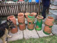 For sale Victorian terracotta chimney pots