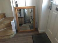 Bevelled Mirror Antique Pine Frame