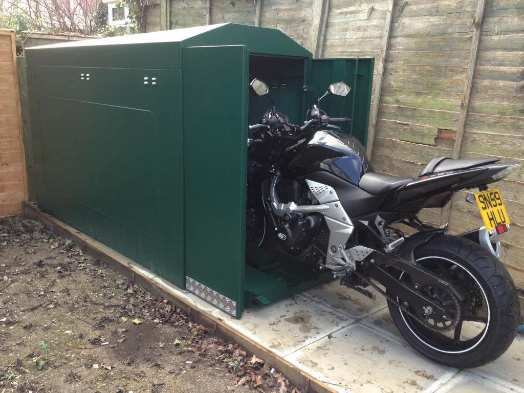 Motorcycle Carport Storage : Motorcycle shed secure a bike thatcham approved store