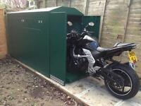 MOTORCYCLE SHED SECURE A BIKE THATCHAM APPROVED BIKE STORE