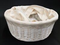 Three Linen/ laundry wicker storage baskets - Good condition
