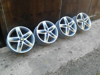 "5x112 17"" GENUINE-ORIGINAL AUDI ALLOY WHEELS SEAT-SKODA-VW-T4"