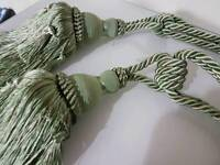 Cream mint curtain tie backs