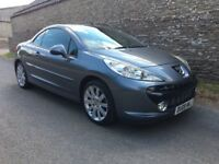 STUNNING 2010 PEUGEOT 207cc 1.6 GT HARDTOP CONVERTIBLE. STUNNING CONDITION THROUGHOUT AND F/S/H