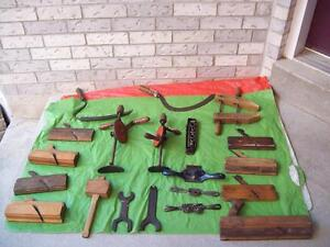 ANTIQUE TOOLS,  Clamp, Levels, Planes, Socket Set And MORE