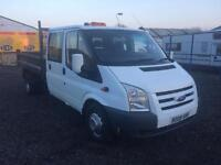 Ford transit crew cab tipper 08 Reg no vat 1 year mot finance Available clean van