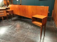 Headboard with Bedside Tables by McIntosh of Kirkcaldy. Retro Vintage Mid Century