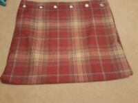 Next eyelet fully lined curtains, in a red/brown tartan.Excellent, nearly new condition