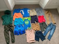 (19 items) Boys 6-7 and 7-8 bundle hoody joggy bottoms swim trunks tops jeans