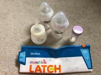 x3 Baby Bottles Tommy Tippee & MAM + bag