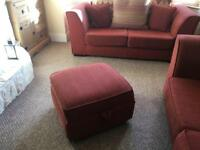 Sofas and pouffe