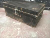 Beautiful vintage metal tool chest
